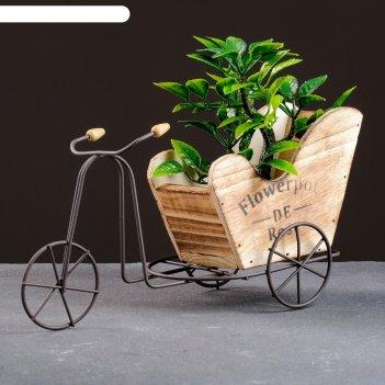 Кашпо-велосипед 26*10*13см