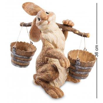 Gg-4716 lg кашпо кролик с коромыслом (sealmark)