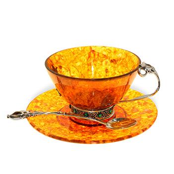 Чашка чайная восточная из ювелирной бронзы