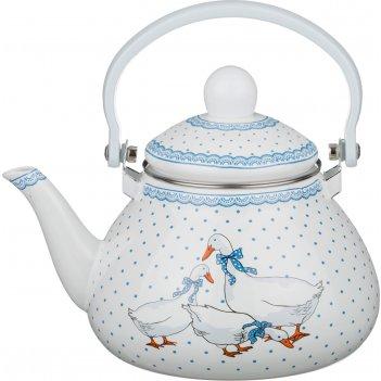 Чайник agness  эмалированный с фильтром из нжс 1,3 л. (кор=8шт.)