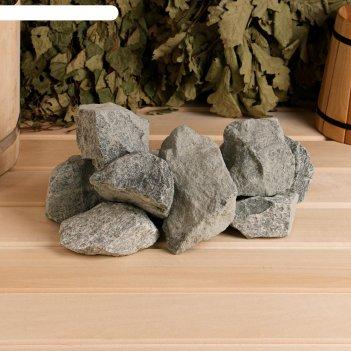 Камень для бани габбро-диабаз, коробка 20кг