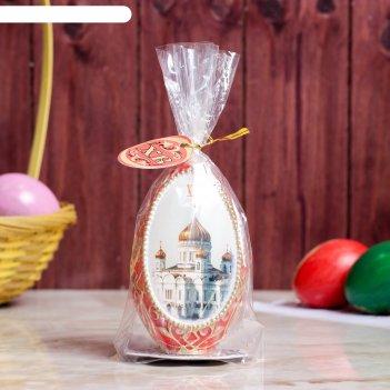 Свеча яйцо пасхальное храм