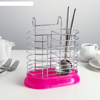 Сушилка для столовых приборов подвесная 15,5х11х19 см, цвет микс