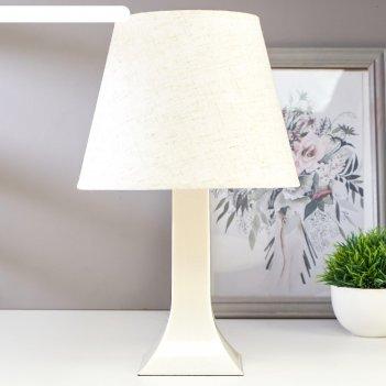 Лампа настольная 62104 1хе27 15вт светло-бежевый d=22 см, h=34,5 см