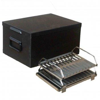 Коптильня двухярусная royalgrill™, 44х32х22 см, сталь 1,2 мм