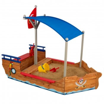 Песочница пиратская лодка