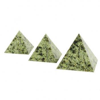 Пирамида 55х55 мм камень змеевик