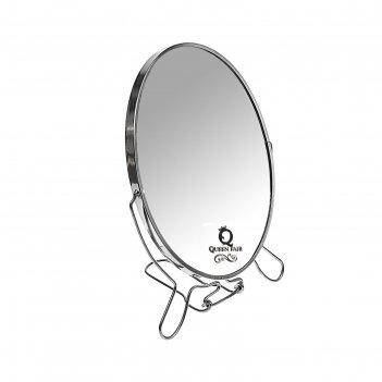 Зеркало настольно-подвесное, овальное, двухстороннее, с увеличением