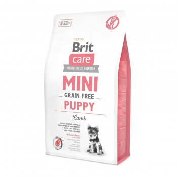 Сухой корм brit care mini gf puppy lamb для щенков мини-пород, беззерновой