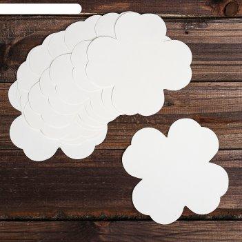 Основа для творчества и декора клевер,  набор 10 шт, размер 1 шт 14*14 см