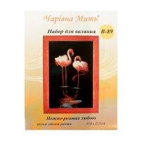 Набор для валяния картина нежно-розовая любовь в-89 17,5х27,5 см