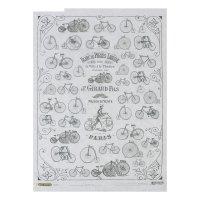 Рисовая бумага для декупажа велосипед формат a3, 25г/м