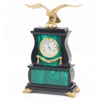 Часы орел малахит бронза