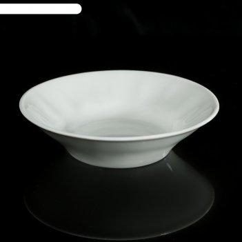 Блюдце «бельё», 115 мл, d=11 см, цвет белый