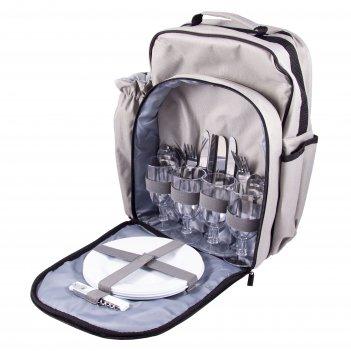 Набор для пикника на 4 персоны в рюкзаке 36*21*42
