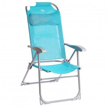 Кресло-шезлонг складное к2, 75 x 59 x 109 см, цвет бирюзовый
