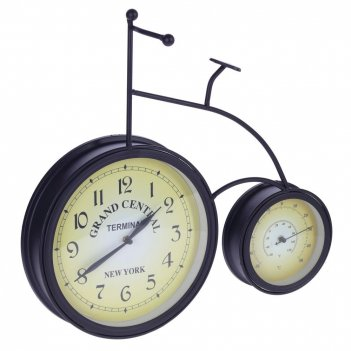 Часы с термометром настенные декоративные, l46 w11 h44 см, d25/15 см, (2ха