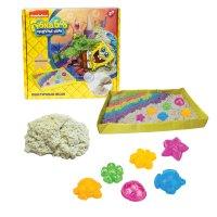 1toy губка боб, космический песок, классический, 1 кг, набор песочница и ф