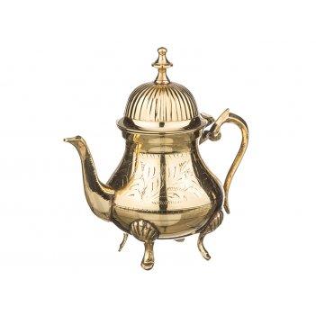 Чайник заворочный латунь высота=19 см 480 мл
