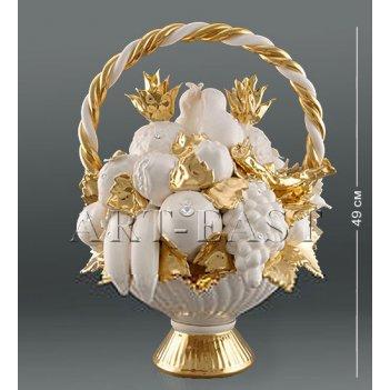 Ahura- 17 композиция корзина с фруктами с кристаллами сваровски