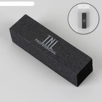 Баф для ногтей, четырёхсторонний, 9,5 см, цвет чёрный