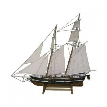 Модель деревянного парусника le chasseur l 77 см h 68 см