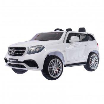 Электромобиль mercedes-benz gls amg, 4wd полный привод, eva колёса, цвет б