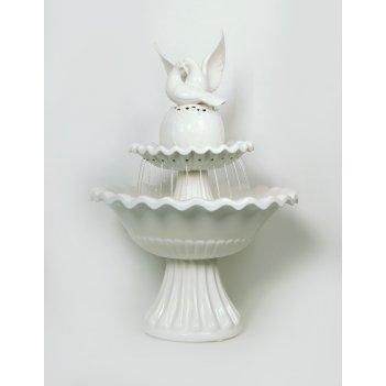 Настольный фонтан «два голубя»