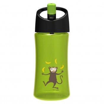 Детская бутылка для воды carl oscar monkey 0.35л лайм