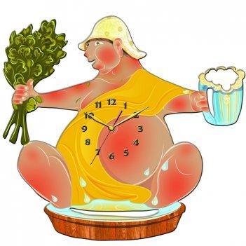 Часы настенные tiarella мужик баня