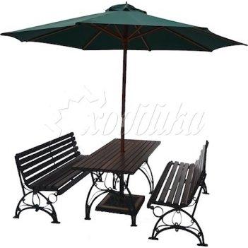 Комплект садовой мебели «флора» с зонтом 1,5