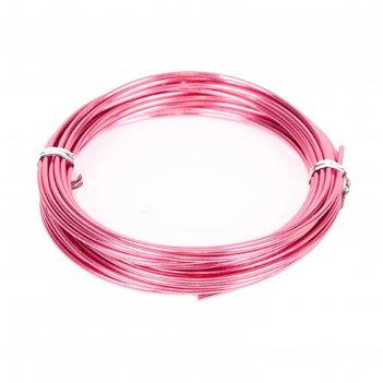 Проволока бонсайная,2 мм х 5 м, розовый