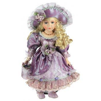 Кукла коллекционная ульяна, фарфор 41см