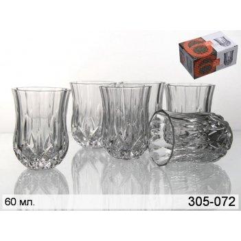 Набор стопок для водки из 6 шт.опера 60 мл.