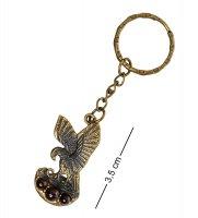 Am-1618 брелок орел (латунь, янтарь)