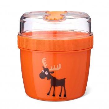 Ланч-бокс с охлаждающим элементом n'ice cup™ moose оранжевый