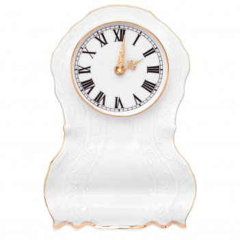 Часы каминные бернадотт белый узор