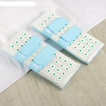 Иппликатор-коврик для ног, мягкий, 14 x 32 см, пара, цвет микс