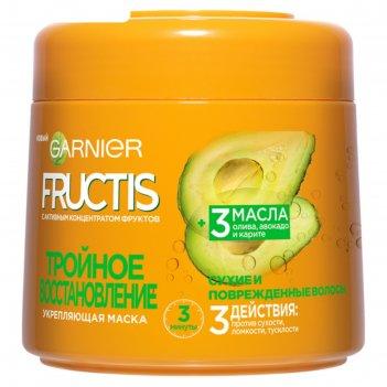 Маска для волос fructis «тройное восстановление», укрепляющая, для поврежд