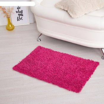 Ковер для ванны «шегги», 50 х 80, цвет розовый.