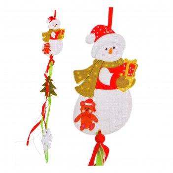 Набор для создания новогодней подвески «снеговик с подарками»