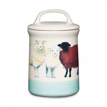 Банка для сыпучих продуктов «овцы», объем: 700 мл, материал: керамика, цве