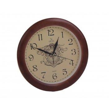 Часы настенные круглые классика, деревянные