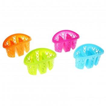 Сушилка для столовых приборов «хозяюшка», цвет микс
