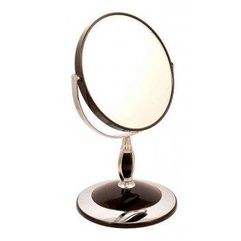 Зеркало* b6806 blk/c black настольное 2-стор. 5-кр.ув.15 см