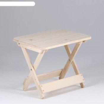 Столик к шезлонгу, хвоя, 50x40x43см