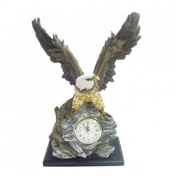 Часы настольные декоративные орел, l32 w15 h43 см