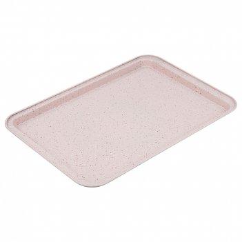 Противень agness антипригарное покрытие 43*29*2  см, арктик (кор=24шт.)