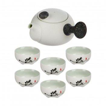 Набор для чайной церемонии 7 предметов путь даоса (чайник 180 мл, чашка 70