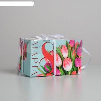 Коробка для капкейка «8 марта», 16 x 8 x 10 см